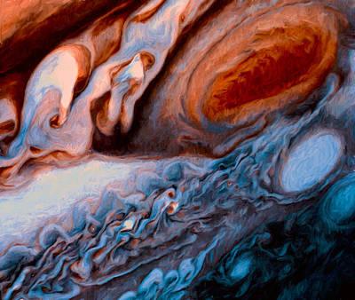 Jupiters Red Spot Ala Van Gogh Art Print