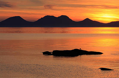 Photograph - Jura Sunset by Grant Glendinning