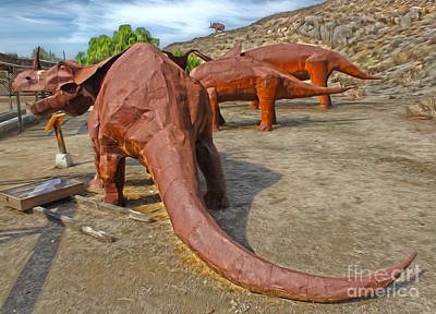 Painting - Jurupa Dinosaurs by Gregory Dyer