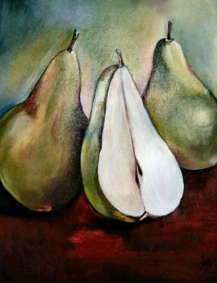 Painting - Just Us Pears by Arlen Avernian - Thorensen