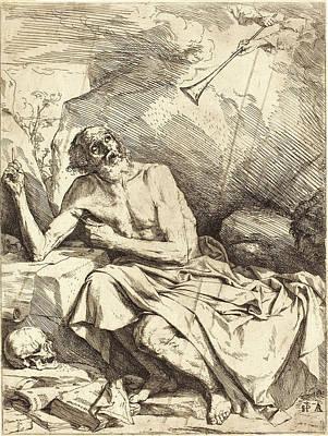 Jusepe De Ribera Spanish, 1591-1652, Saint Jerome Hearing Art Print by Litz Collection