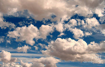 Art Print featuring the photograph Just A Face In The Clouds by Janice Westerberg