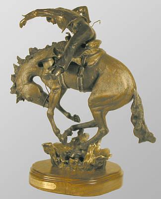 Sculpture - Just A Few More Bucks by Hugh Blanding