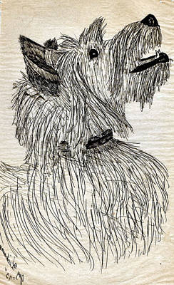 Scotties Drawing - Just A Happy Fellow by Joy Reese
