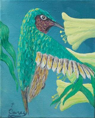 Painting - Just A Hummingbird by Carey MacDonald