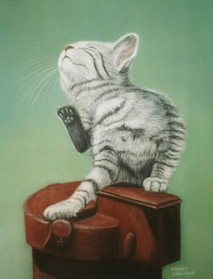 Animal Portraits Painting - Just A Little Itch by Sharon Challand