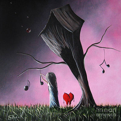 Floating Girl Painting - Just A Little Love Song By Shawna Erback by Shawna Erback