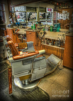 Barberchair Photograph - Just A Little Off The Top - Barber Shop by Lee Dos Santos