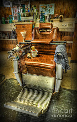 Barberchair Photograph - Just A Little Off The Top II - Barber Shop by Lee Dos Santos