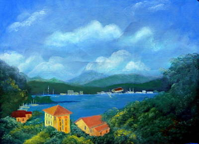Portofino Italy Painting - Just A Peaceful Place by Jack Hampton