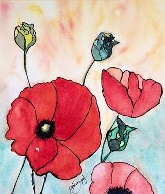 Painting - Just A Poppy by Joan Zepf