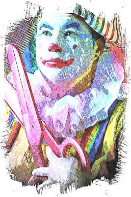 Sissors Digital Art - Just A Trim by Ken Evans