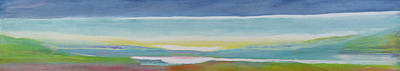 Bold Colours Painting - Just Above Sea Level by Lou Gibbs