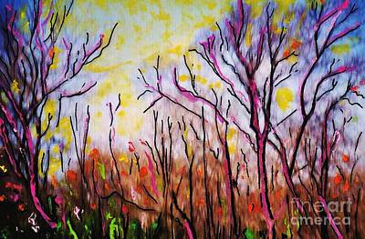 The Trees Mixed Media - Just Across The River by Sarah Loft