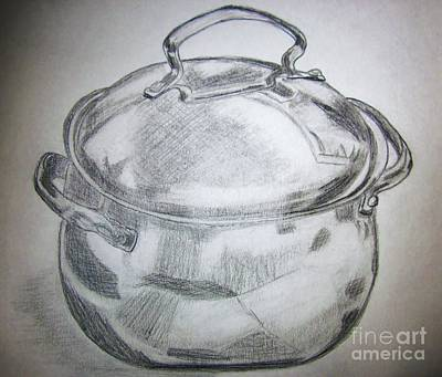 Drawing - Just An Old Pot by Patsy Gunn
