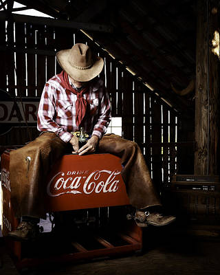 Art Print featuring the photograph Just Another Coca-cola Cowboy 3 by James Sage