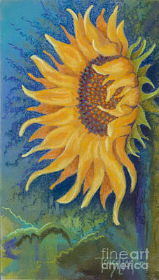 Pastel - Just Another Sunflower by Tracy L Teeter