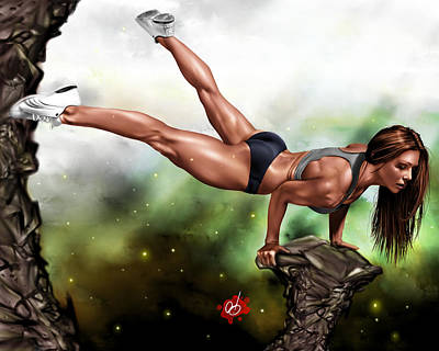 Athletic Drawing - Just Because I Can by Pete Tapang