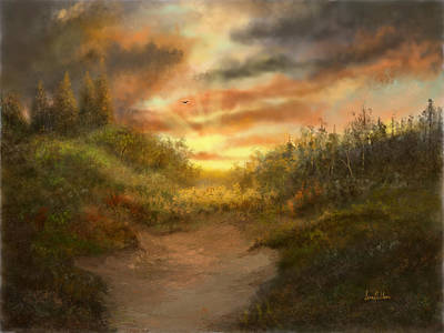Painting - Just Before Darkness by Sena Wilson
