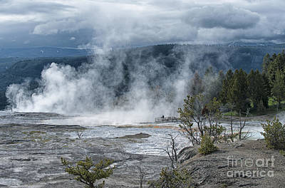 Photograph - Just Before The Storm - Mammoth Hot Springs by Sandra Bronstein