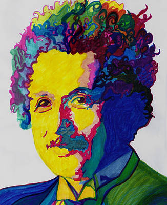 Einstein Drawing - Just Call Me Al by Jill Jacobs