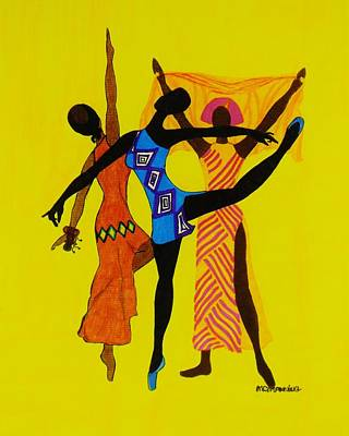 African-american Drawing - Just Dance by Celeste Manning