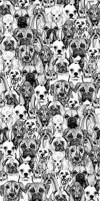 Just Dogs Art Print by Sharon Turner
