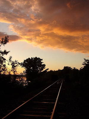 Photograph - Just Follow The Train Tracks by Georgia Hamlin