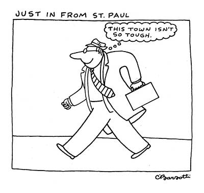 St Paul Drawing - Just In From St. Paul by Charles Barsotti