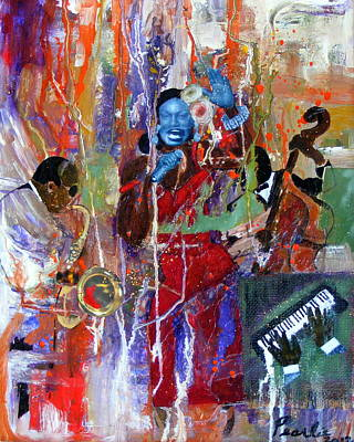 Painting - Just Jazzin by Pearlie Taylor