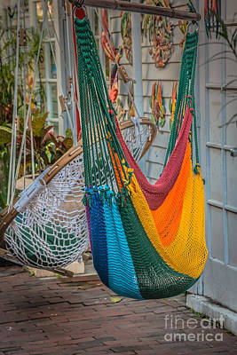 Chillin Photograph - Just Lazin - Hammocks Key West - Hdr Style by Ian Monk