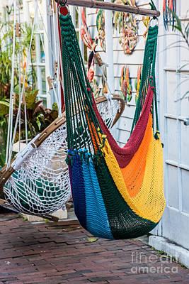 Chillin Photograph - Just Lazin - Hammocks Key West  by Ian Monk