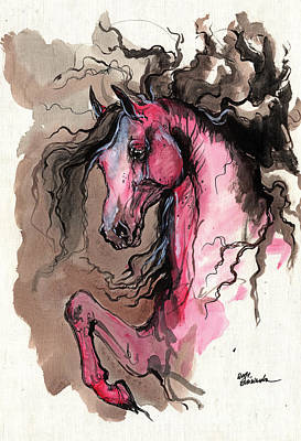 Wild Horse Painting - Just Like A Fire by Angel  Tarantella