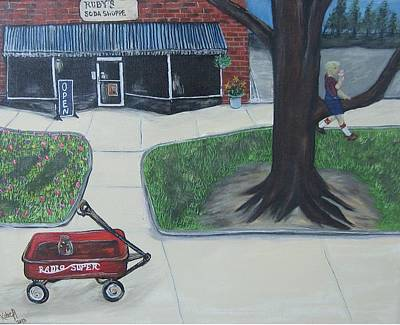 Radio Flyer Wagon Painting - Just Like The Old Days by Katie Adkins