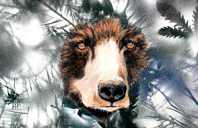 Brave Mixed Media - Just Lookin by Holly Smith