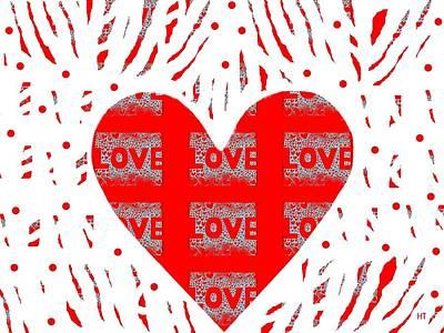 Digital Art - Just Love by Helena Tiainen