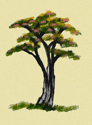 Thai Artist Artists Painting - The Tree Of Life by Colin Smeaton