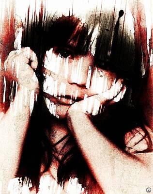 Despair Digital Art - Just Meet Those Eyes by Gun Legler