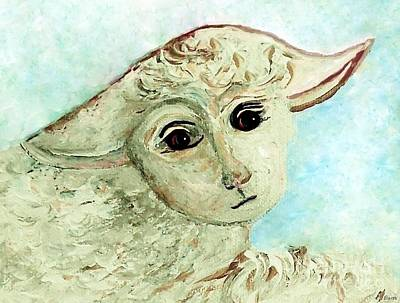 Boy Painting - Just One Little Lamb by Eloise  Schneider