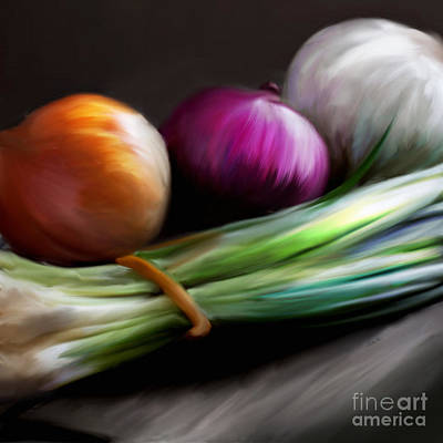 Painting - Just Onions by Catia Cho