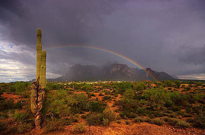 The Superstitions Photograph - Just Over The Rainbow  by Saija  Lehtonen