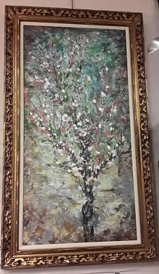 Painting - Just Peachy Framed by Brenda Berdnik