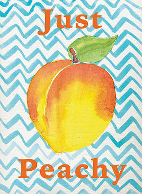 Peaches Drawing - Just Peachy Painting by Christy Beckwith