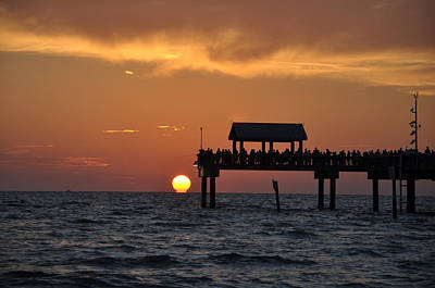 Sunset Photograph - Just Perfect - Pier 60 Clearwater Beach Florida by Bill Cannon