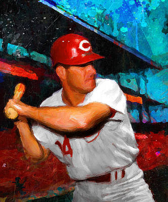 Slugger Painting - Just Pete Rose by John Farr