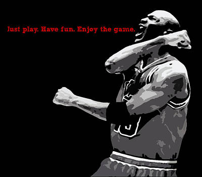 Michael Jordan Digital Art - Just Play by Mike Maher