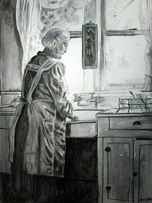 Drawing - Just Remembering by Mike Benton