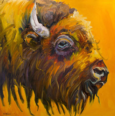Painting - Just Sayin Bison by Diane Whitehead