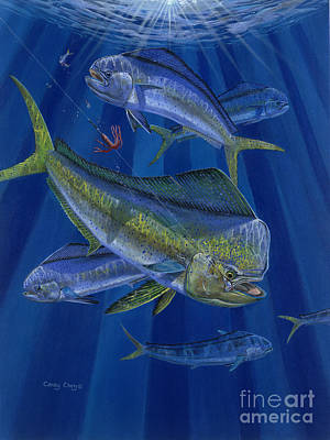 Striped Marlin Painting - Just Taken Off0025 by Carey Chen