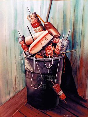 Gears Painting - Just Taking A Break by Raymond Edmonds
